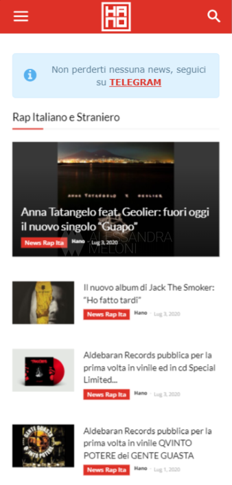 Hano.it - Sito Web versione mobile